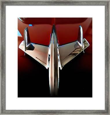 Dream - 55 Chevy Hood Ornament Framed Print by Steven Milner