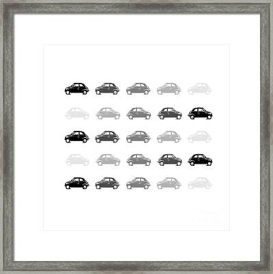 Dream Cars - Fiat 500 Framed Print by Steffi Louis