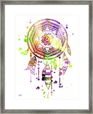 Dream Catcher 2 Framed Print by Lyubomir Kanelov