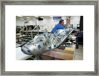 Dream Chaser Model Production Framed Print by Nasa Edge/ron Beard