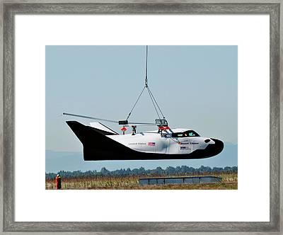 Dream Chaser Spacecraft Test Framed Print by Nasa/sierra Nevada Corporation