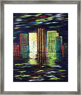 Dream City Framed Print by Anastasiya Malakhova