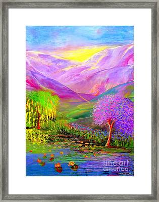 Chains Framed Print featuring the painting Dream Lake by Jane Small