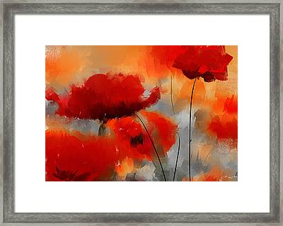 Dream Of Poppies Framed Print by Lourry Legarde