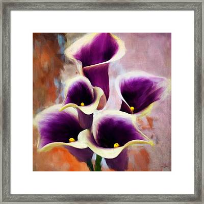 Dream Of Purple Framed Print by Lourry Legarde