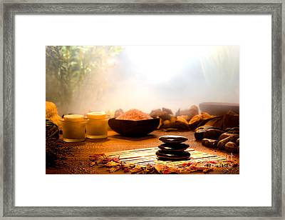 Dream Spa Framed Print by Olivier Le Queinec
