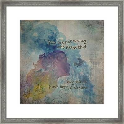 Dream Framed Print by Terry Fleckney