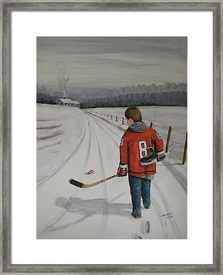 Dream Walking - Alex Framed Print by Ron  Genest
