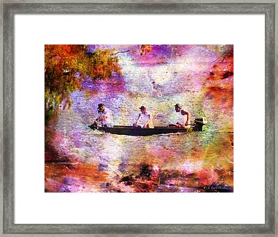Dreaming About Fishing Framed Print by J Larry Walker