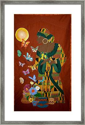 Dreaming Butterflies Framed Print by Linda Egland