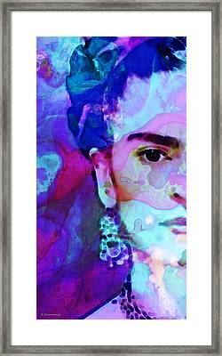 Dreaming Of Frida - Art By Sharon Cummings Framed Print by Sharon Cummings
