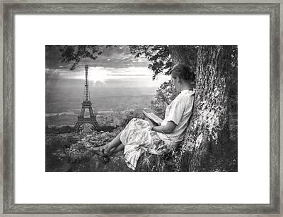 Dreaming Of Paris Framed Print by Debra and Dave Vanderlaan