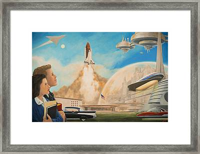 Dreams And Visions Framed Print by Charles Fennen