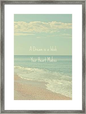 Dreams And Wishes Framed Print by Kim Hojnacki