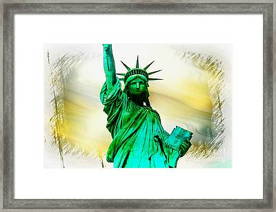 Dreams Of Liberation Framed Print by Az Jackson