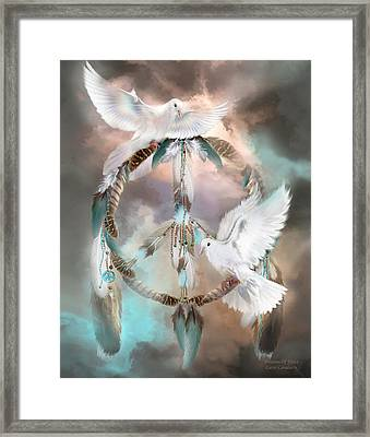 Dreams Of Peace Framed Print by Carol Cavalaris