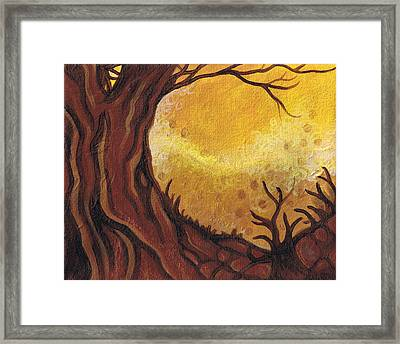 Dreamscape In Fall Tones #1 Of 4 Framed Print by Laura Noel