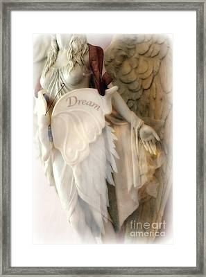 Dreamy Angel Art Photography - Ethereal Spiritual Dream Angel Wings - Inspirational Angel Art Framed Print by Kathy Fornal