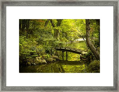 Dreamy Japanese Garden Framed Print by Sebastian Musial