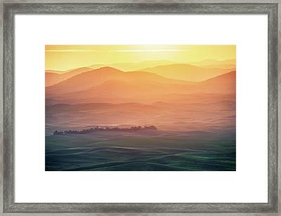 Dreamy Morning Framed Print by Naphat Chantaravisoot