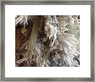 Dreamy Trees Ethereal Winter White Snow On Trees Nature Winter White Framed Print by Kathy Fornal