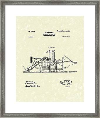 Dredging Apparatus 1899 Patent Art Framed Print by Prior Art Design