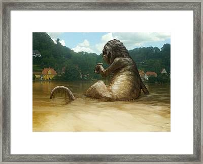 Dregs Of The Flood Framed Print by Ethan Harris