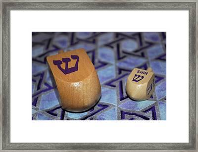Dreidel Dreidel Framed Print by Tikvah's Hope