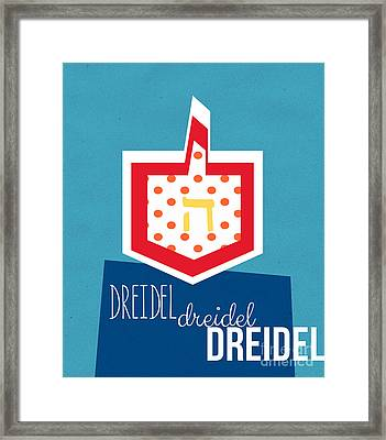 Dreidels Framed Print by Linda Woods