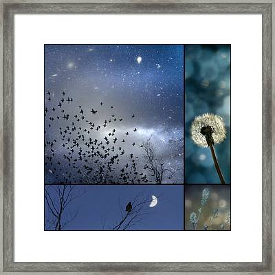 Drempt In Blue Framed Print by Gothicrow Images