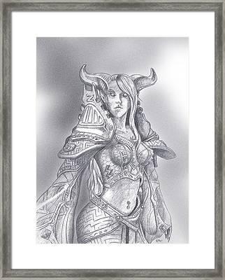Drenai Mage Framed Print by Kate Black
