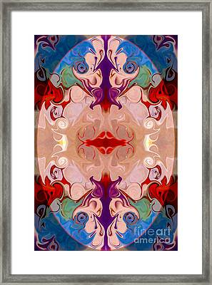 Drenched In Awareness Abstract Healing Artwork By Omaste Witkows Framed Print by Omaste Witkowski