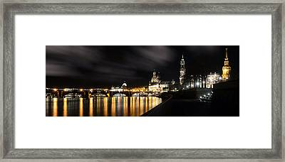 Dresden At Night Framed Print by Steffen Gierok