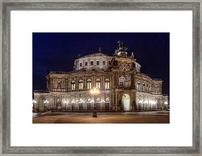 Dresden Semperopera Framed Print by Steffen Gierok