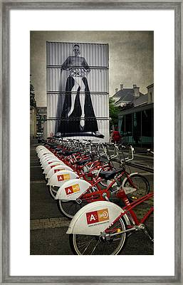 Dress For The Ride Framed Print by Joan Carroll