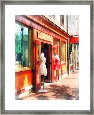 Dress Shop Fells Point Md Framed Print by Susan Savad