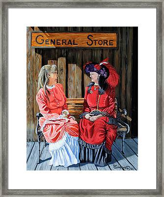 Dressed For Town Framed Print by Timithy L Gordon