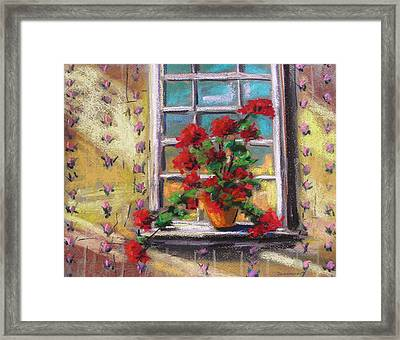 Dressing Room Window Framed Print by John Williams