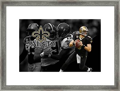 Drew Brees Saints Framed Print by Joe Hamilton