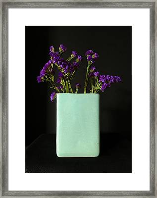 Dried Purple Flowers Framed Print by Patricia Januszkiewicz