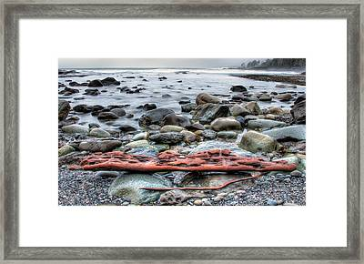Drift Log Framed Print by James Wheeler