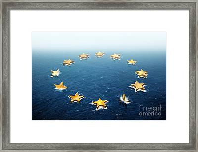 Drifting Europe Framed Print by Carlos Caetano