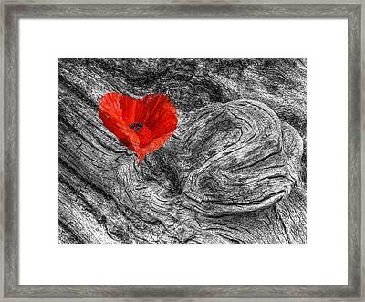 Drifting - Love Merging Framed Print by Gill Billington