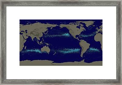 Drifting Ocean Garbage Framed Print by Nasa's Scientific Visualization Studio