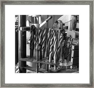 Drill Bits Framed Print by Steven Ralser