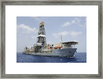 Drillship Discoverer Deep Seas Framed Print by Bradford Martin