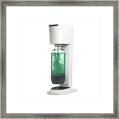 Drink Carbonation System Framed Print by Science Photo Library