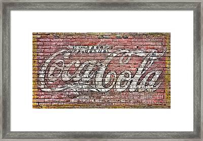 Drink Coca Cola Framed Print by Olivier Le Queinec