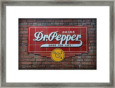 Drink Dr. Pepper - Good For Life Framed Print by Stephen Stookey