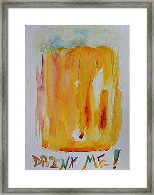 Drink Me Framed Print by Beverley Harper Tinsley